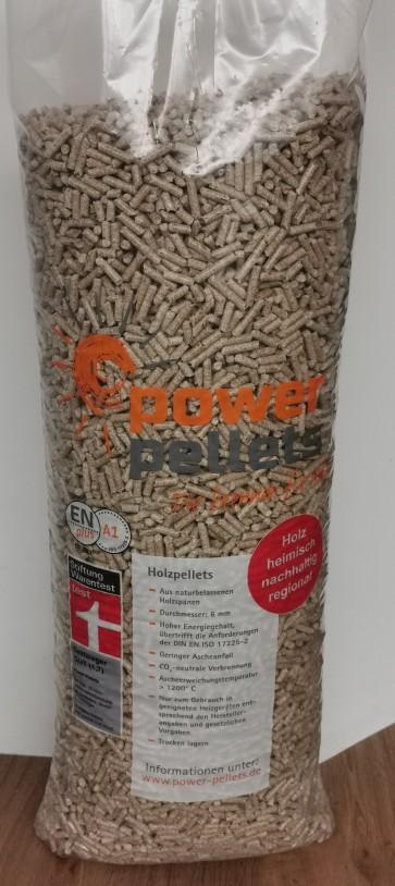 PowerPellets im 15 kg Sack sind ENplus A1 – ID Nr. DE 301 zertifiziert