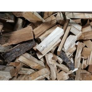 Frisches Fichten-Brennholz lose als Schüttung ca. 33 cm Scheitlänge